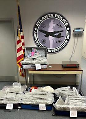 174 pounds of marijuana found in suitcases at Atlanta airport