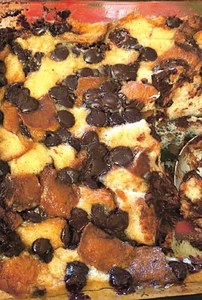 Wrap yourself in comfort with this quick and delicious chocolate chip bread pudding
